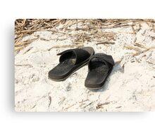 Beach Sandals Canvas Print
