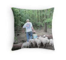 The Pig Piper Throw Pillow