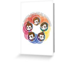 Doctor Who - Various hairstyles of the Doctor Greeting Card
