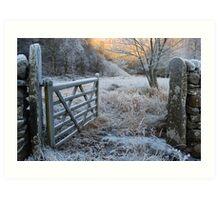 Winter Gate Art Print