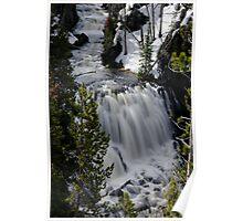 Kepler Cascades - Yellowstone National Park Poster