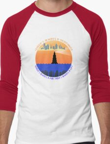 There's always a lighthouse... Men's Baseball ¾ T-Shirt