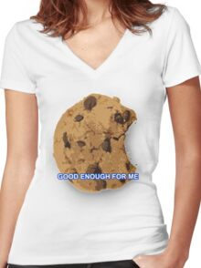 Good Enough For Me Women's Fitted V-Neck T-Shirt