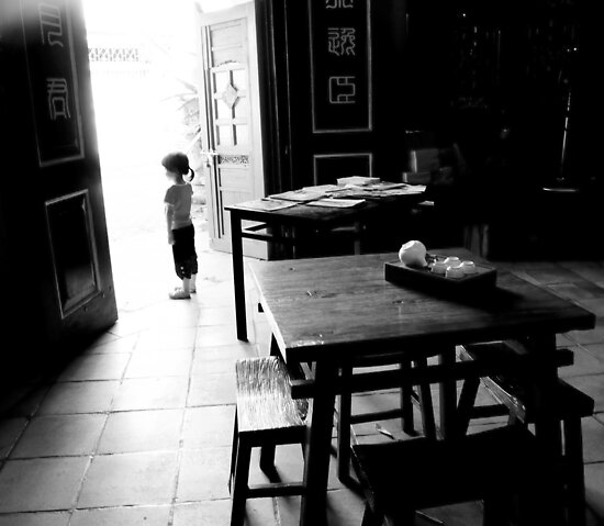 girl at door by aspenrock