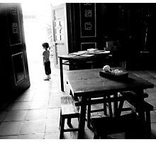 girl at door Photographic Print