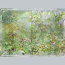 """A Window of Dreams"" Scarf ~ Grey Textured Borders by Susan Werby"
