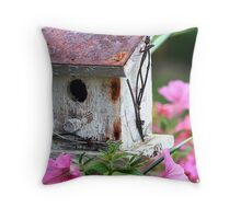 The Bird Shack Throw Pillow