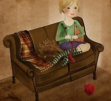 Warm winter socks by Kristy Spring-Brown