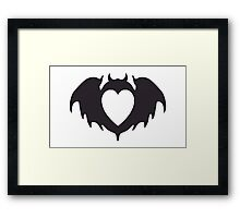 Clandestine Bat Heart - Grey Framed Print