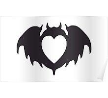 Clandestine Bat Heart - Grey Poster
