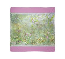 """""""A Window of Dreams"""" Scarf ~ Pink Textured Borders Scarf"""
