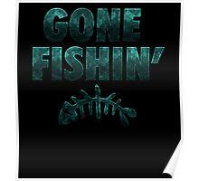 Gone Fishin' Foamposite  Poster