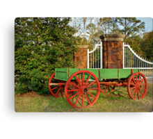 Painted Wagon Canvas Print