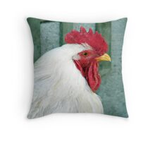 Pearl White Leghorn Throw Pillow