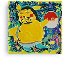 Gangster Pikachu Canvas Print