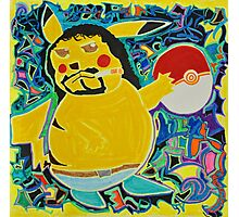 Gangster Pikachu Photographic Print