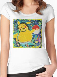Gangster Pikachu Women's Fitted Scoop T-Shirt
