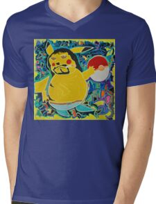 Gangster Pikachu Mens V-Neck T-Shirt