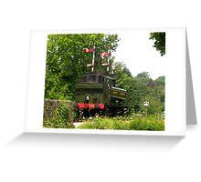 Locomotive 1369 Approaching Buckfastleigh Greeting Card