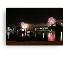 6_Fireworks Sydney Harbour New Years Eve 2008 Canvas Print