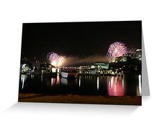 6_Fireworks Sydney Harbour New Years Eve 2008 Greeting Card