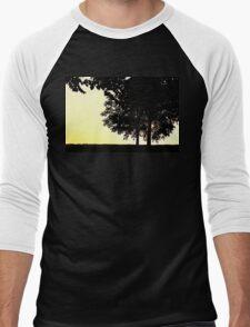 Backlit Trees Men's Baseball ¾ T-Shirt