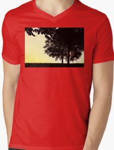Backlit Trees Mens V-Neck T-Shirt