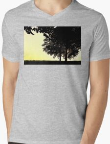 Backlit Trees Mens V-Neck T-Shirt
