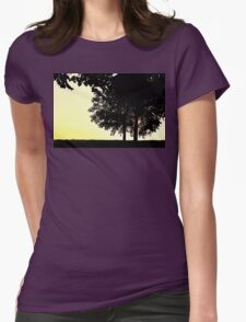 Backlit Trees Womens Fitted T-Shirt