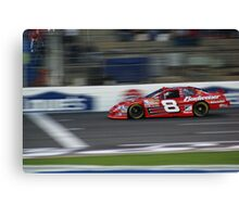 Jr. during practice at Lowes Motor Speedway Canvas Print