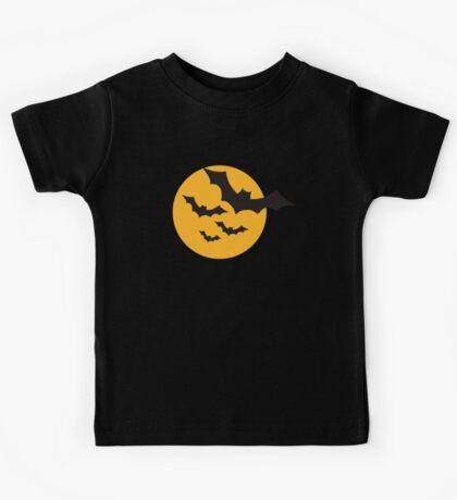 Halloween Bats moon Kids Tee