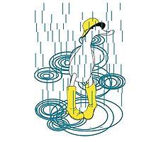 Rainy Day Duck by sarahrozdilski