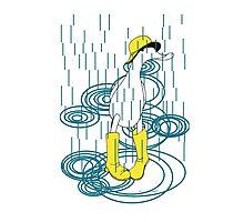 Rainy Day Duck Photographic Print