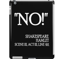 No 2 iPad Case/Skin