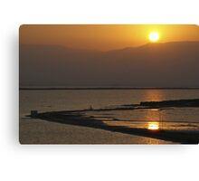 Sun rise over the Dead Sea Canvas Print