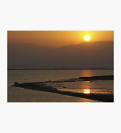Sun rise over the Dead Sea Photographic Print