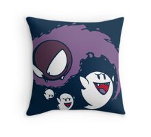 Ghostly Yin & Yang Throw Pillow