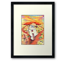 Pooky Bunny in Uluru Framed Print