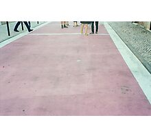Pink street Photographic Print