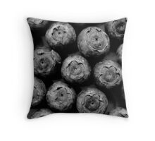 Blueberries in black Throw Pillow