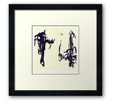 Brush Power Framed Print