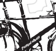 twisted wheels: black chopper Sticker