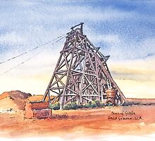 Sons of Gwalia Headframe Gwalia West Australia. by robynart