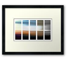experiments with motion 6 Framed Print