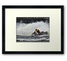 Lifeguards competition Framed Print
