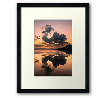 Cloud Mirror on Lake Chapala Framed Print
