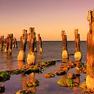 Clifton jetty at sunset by Hans Kawitzki