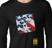 Stars n' Stripes ... Red ... White & Blue Square  Long Sleeve T-Shirt