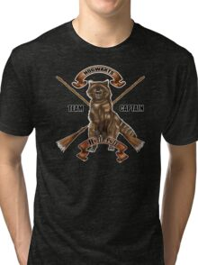 Fox with two broom Tri-blend T-Shirt