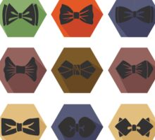 Bow tie pattern. Flat icons with hipsters style Sticker